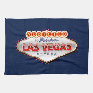 Addicted to Las Vegas, Nevada Funny Sign Hand Towels
