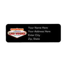 Addicted to Las Vegas, Nevada Funny Sign Label