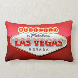 Addicted to Las Vegas, Nevada Funny Sign Lumbar Pillow