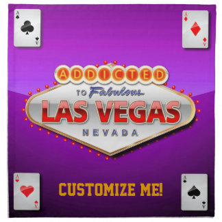 Addicted to Las Vegas, Nevada Funny Sign Napkin