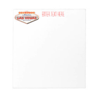 Addicted to Las Vegas, Nevada Funny Sign Memo Notepad