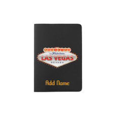 Addicted to Las Vegas, Nevada Funny Sign Passport Holder