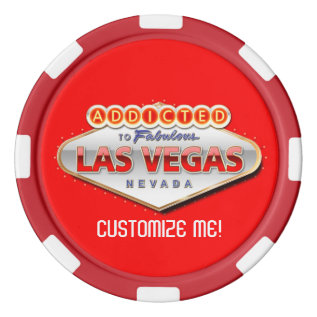 Addicted To Las Vegas, Nevada Funny Sign Poker Chips Set at Zazzle