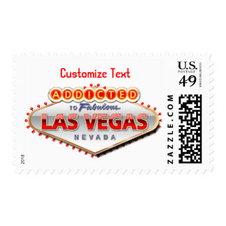 Addicted to Las Vegas, Nevada Funny Sign Postage Stamps