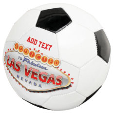 Addicted To Las Vegas, Nevada Funny Sign Soccer Ball at Zazzle