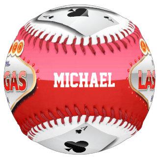 Addicted to Las Vegas, Nevada Funny Sign Softball