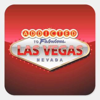 Addicted to Las Vegas, Nevada Funny Sign Square Sticker