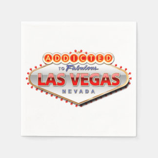 Addicted to Las Vegas, Nevada Funny Sign Standard Cocktail Napkin