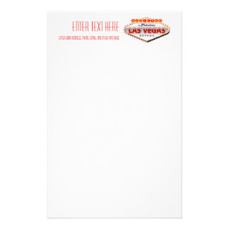 Addicted to Las Vegas, Nevada Funny Sign Stationery