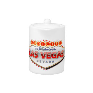 Addicted to Las Vegas, Nevada Funny Sign Teapot