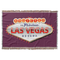 Addicted to Las Vegas, Nevada Funny Sign Throw