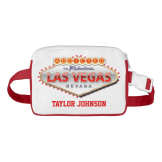 Addicted to Las Vegas, Nevada Funny Sign Waist Bag
