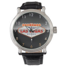 Addicted to Las Vegas, Nevada Funny Sign Wrist Watch