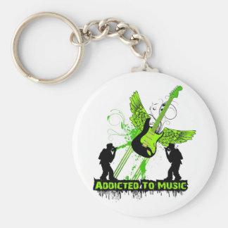 Addicted To Music Keychain