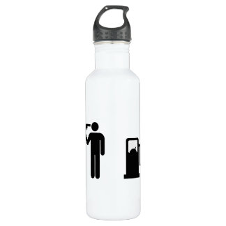 Addicted To Petrol on white Stainless Steel Water Bottle