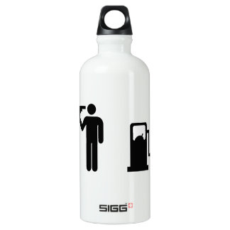 Addicted To Petrol on white Water Bottle