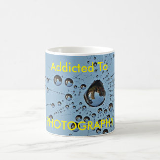Addicted to Photography Dewy Spider Web Coffee Mug