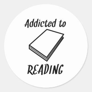 Addicted To Reading Classic Round Sticker