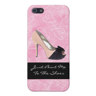 Addicted To Shoes Love Hearts Black Pink High-heel iPhone SE/5/5s Case