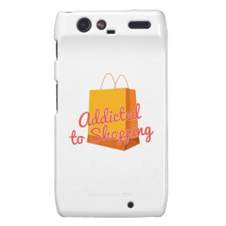 Addicted To Shopping Motorola Droid RAZR Covers