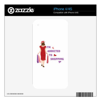 Addicted To Shopping Skin For The iPhone 4