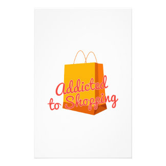 Addicted To Shopping Stationery Design