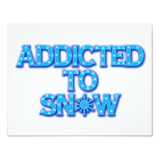 Addicted to Snow Card