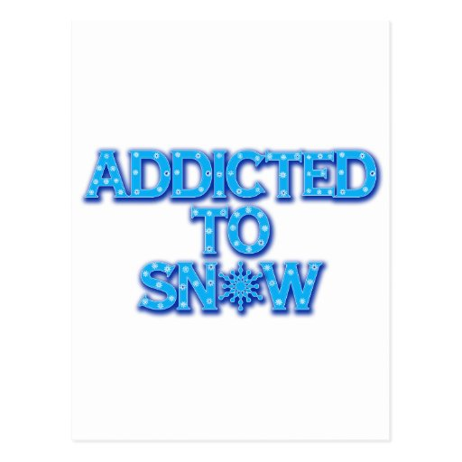 Addicted to Snow Postcard