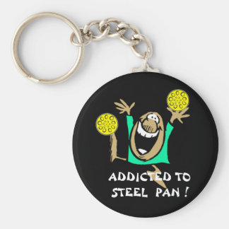 Addicted to Steel Pan key-chain Basic Round Button Keychain