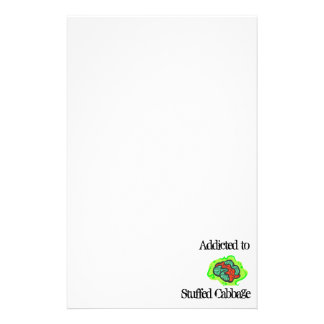 Addicted to Stuffed Cabbage Customized Stationery