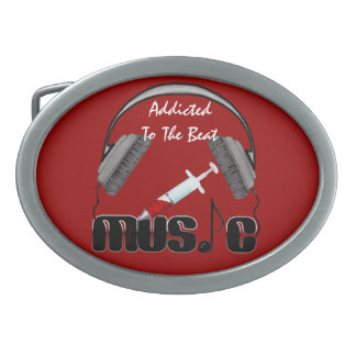 Addicted To The Beat Belt Buckle