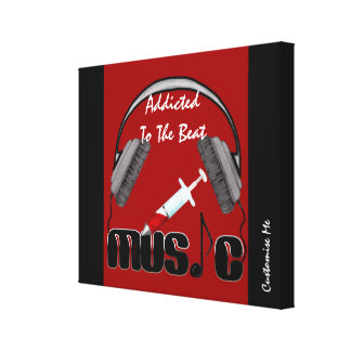 Addicted To The Beat Canvas Print