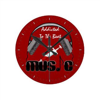 Addicted To The Beat Round Clock
