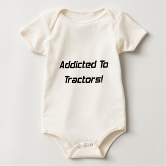 Addicted To Tractor Tractor Gifts Baby Bodysuit