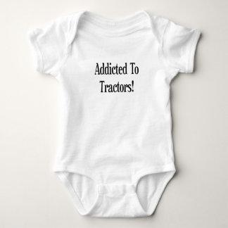 Addicted To Tractors Baby Bodysuit