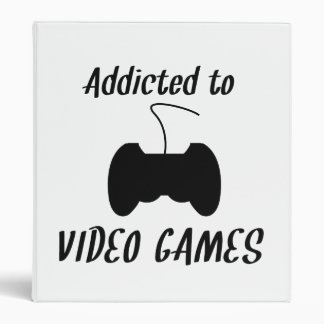 Addicted To Video Games Binders