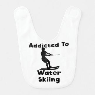 Addicted To Waterskiing Baby Bib