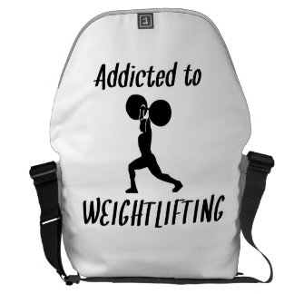 Addicted To Weightlifting Courier Bag
