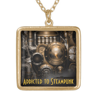 Addicted ton of Steampunk Gold Plated Necklace