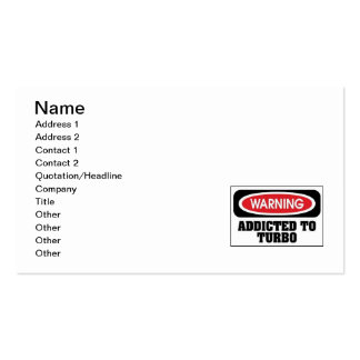 addicted turbo Double-Sided standard business cards (Pack of 100)