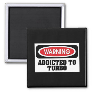 Addicted Turbo 2 Inch Square Magnet