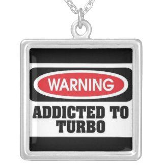 addicted turbo square pendant necklace