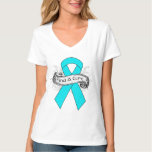 Addiction Awareness Find A Cure Ribbon T-shirt