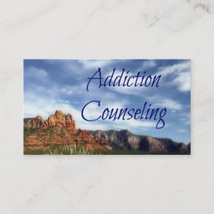 Addiction counseling business cards templates zazzle addiction counseling scenic desert background business card colourmoves