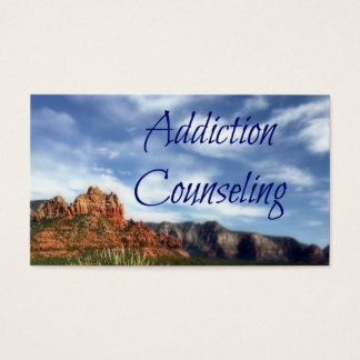 Addiction Counseling Scenic Desert Background Business Card