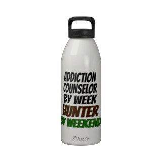 Addiction Counselor Hunter Water Bottle