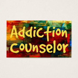 Addiction Counselor in Paint Business Card