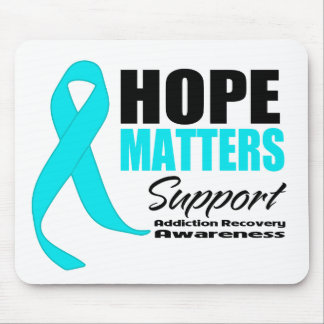 Addiction Recovery Awareness Hope Matters Mouse Pad