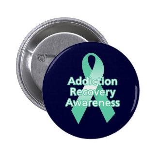 Addiction Recovery Awareness Pinback Button