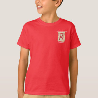 Addiction Recovery Awareness Red Ribbon Angel Tee
